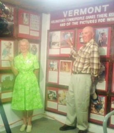 Norman Rockwell Exhibition : 1939 Post cover model RUTH SKELLIE, and 1954 Post Cover model Donald Fisher!
