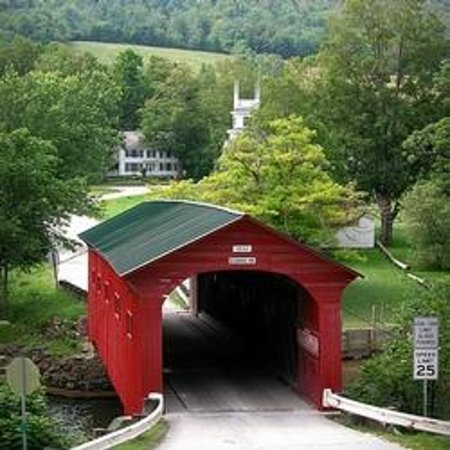 Norman Rockwell Exhibition : W. Arlington Covered Bridge, and Norman Rockwell's Arlington, VT home.