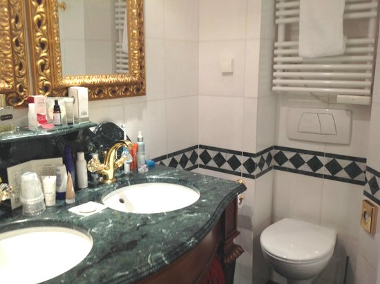 Villa Royale Bathroom With Plastic Cups And Typical Weird French Plumbing