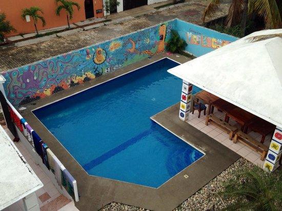 Vivo Escondido Hostel: View from second floor