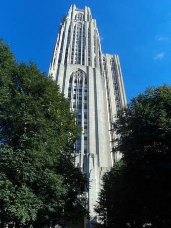 Cathedral of Learning: View from the Fifth Avenue entrance