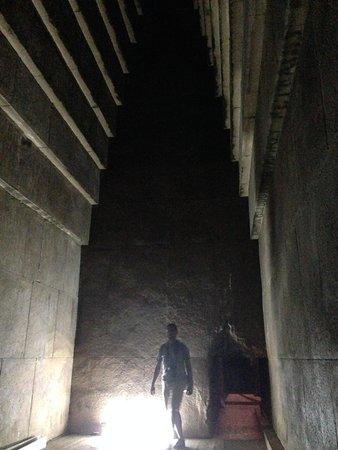 Inside Dahshur pyramid
