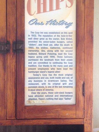 The Cozy Inn : History