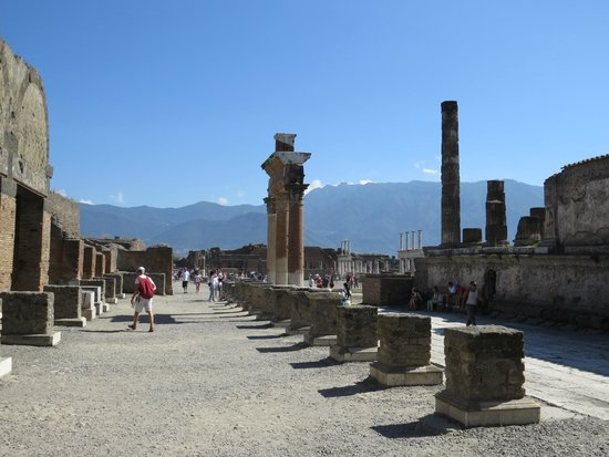 Pompeii Archaeological Park: view of the city