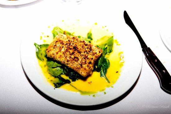 Fleming's Prime Steakhouse & Wine Bar : My salmon dinner