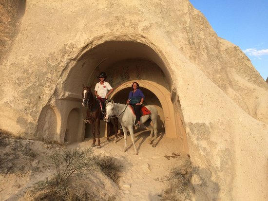 Akhal-Teke Horse Riding Center: Old church carved into a chimney