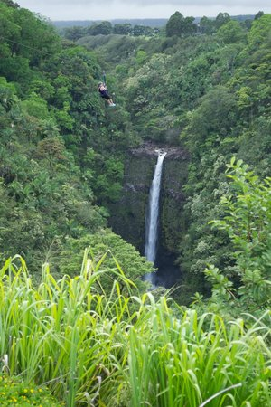 Skyline Eco Adventures - Akaka Falls: Line 7 and by far the best and most beautiful