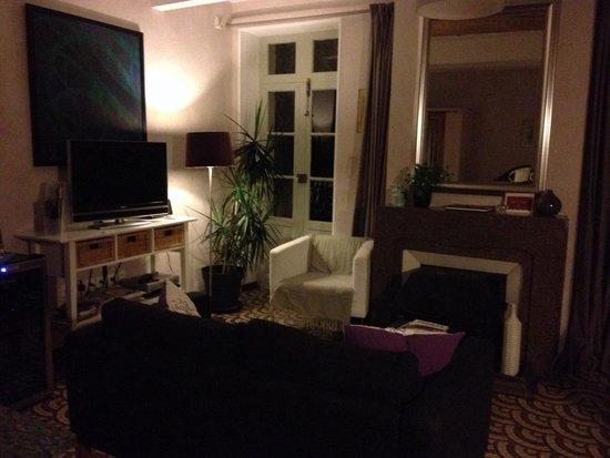 Le Saint Andre : Sala comune accogliente come un salotto di casa.