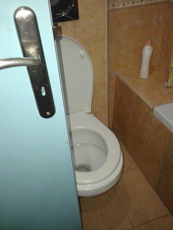 """Elounda Breeze Resort : Door """"hits"""" toilet"""