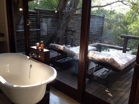 andBeyond Phinda Mountain Lodge: Bathroom and plunge pool