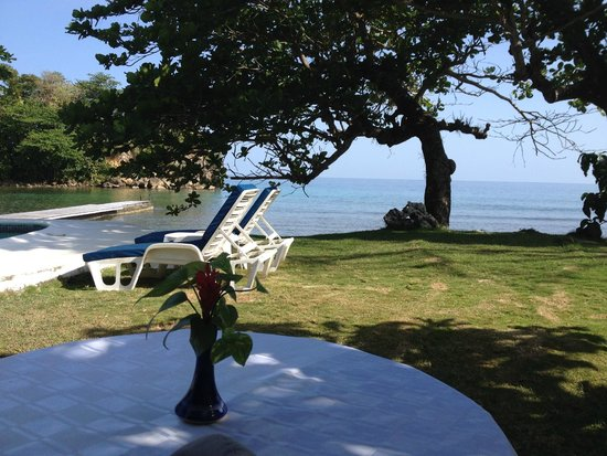 The Resort at Wilks Bay: The pool area and also the view from our terrace