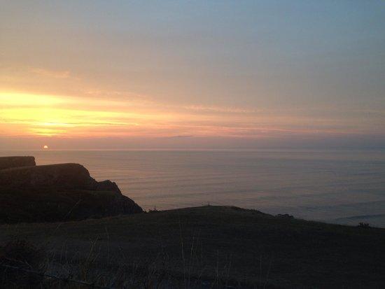Rhossili Bay : Sunset at Rhossli bay
