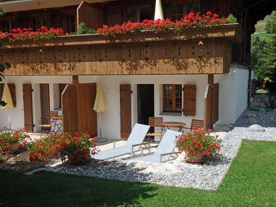 Romantik Hotel Hornberg: Terrace outside our room 48