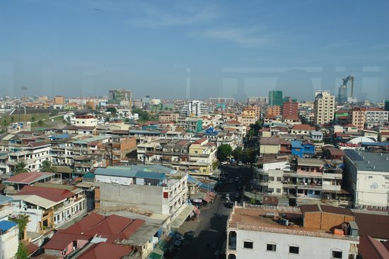 Salita Hotel: View from roof top restaurant