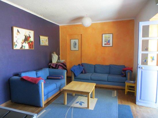 La Selenita: zona soggiorno e tv