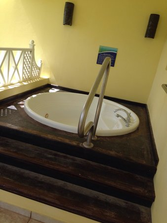 Lowlands, Tobago: Hot tub in room