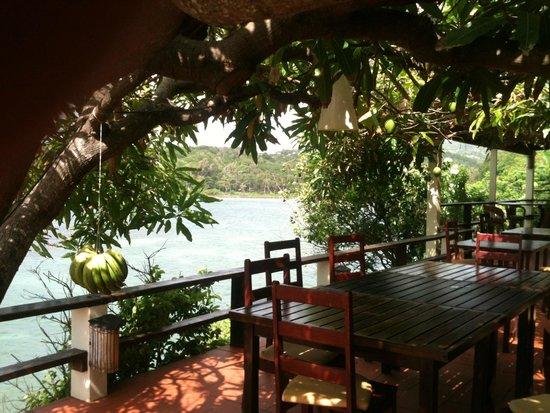 Cabier Ocean Lodge: Terrasse, auf der das Essen serviert wird