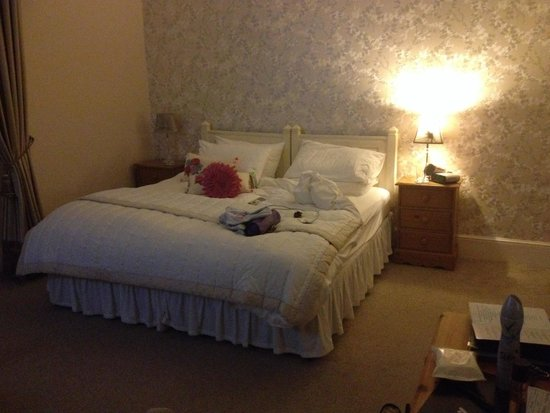Llys Aeron Guest House: Beautiful large bedroom with very comfortable bed!!