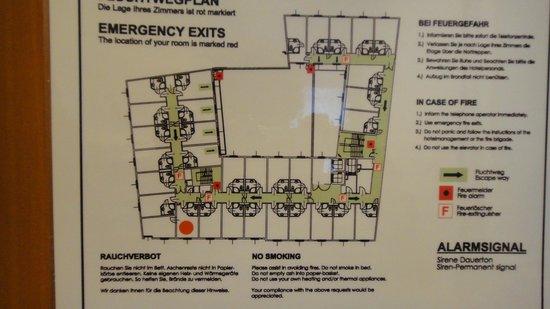 IntercityHotel Wien: 部屋配置図