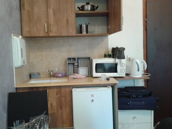 Loui Hotel: The kitchen in the room