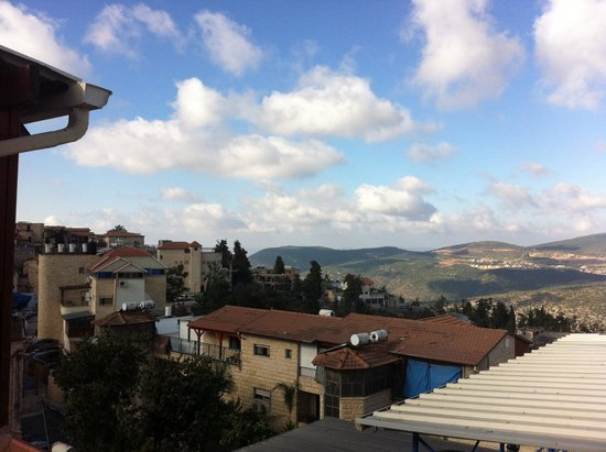 Ascent of Safed Hostel: view from the terrace