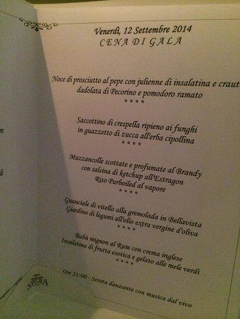 Hotel Savoia Thermae & SPA: Cena di Gala, 12 settembre 2014
