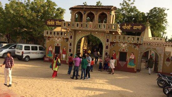 Chokhi Dhani Resort: Main entrance at 5.30pm