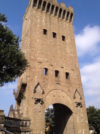 the tower on our walk from hotel david to pointe vecchio