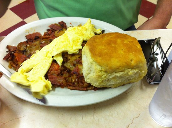 Smith Street Diner: Biscuits the size of Rhode Island. Hash can't be beat.