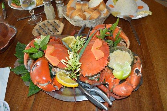 Le Relais de Poingam: Plat de crabe