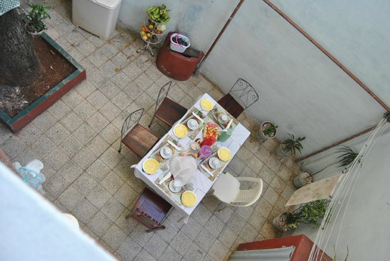 Casa Particular Diego: Delicious breakfast in the cozy courtyard