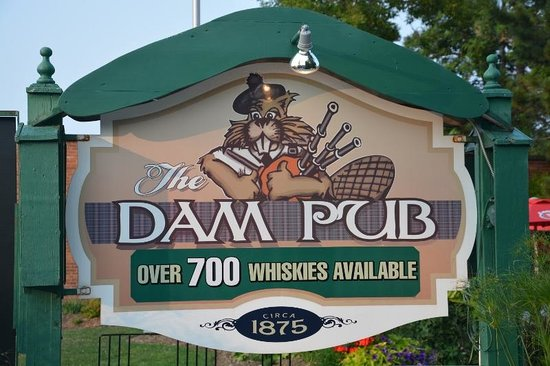 The Dam Pub Gastropub: A friendly greeting even before you step in the door!