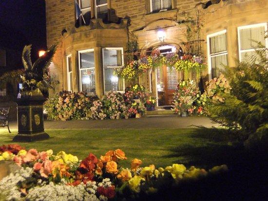 Hazeldean House: The garden at night.