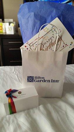 هيلتون جاردن إن تايمز سكوير: Such a lovely surprise from the hotel for my 30th.