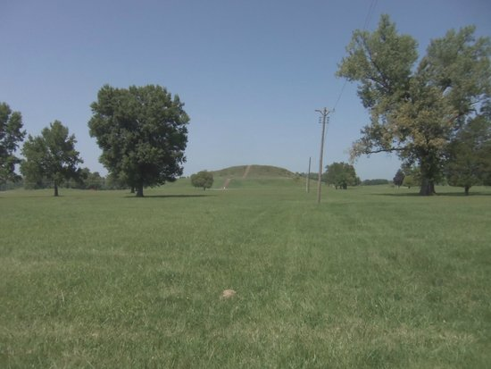 Cahokia Mounds State Historic Site : The main mound, view from the path near the info center.