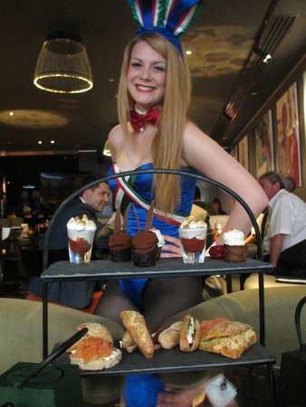 Salvatore's Bar at Playboy Club London : Bunny girls