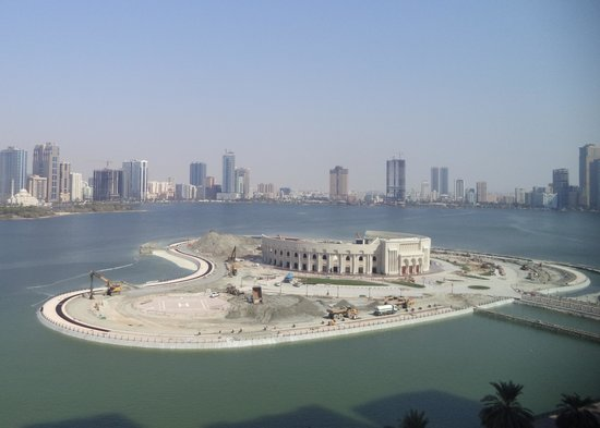 Copthorne Hotel Sharjah: View over Lagoon from Room 720