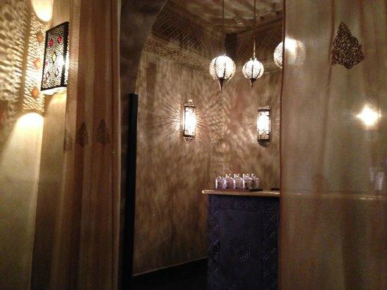 Les Bains de Marrakech : La reception all'uscita