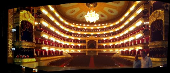 Bolschoi-Theater: Bolshoi Theater. From the stage