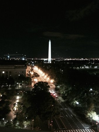 W Washington DC: The view from the roof terrace bar.