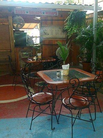 Sub Express & Deli: court yard seating