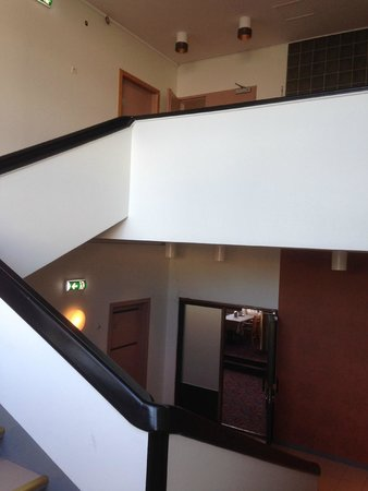 Cumulus Imatra: stairs in the hotel