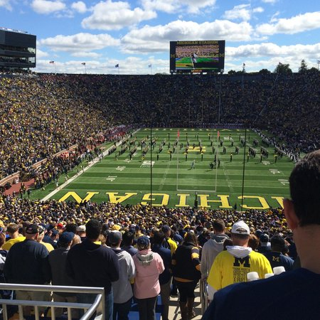 Michigan Stadium : Great stadium for a game. The crowd, the band, the tailgates, and everything about it is such a