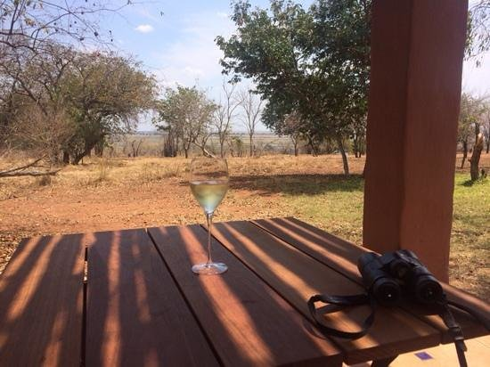 Sanctuary Chobe Chilwero: Enjoying the views from our room