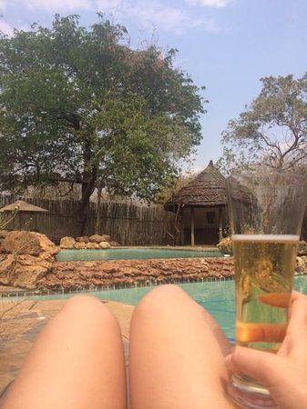 Sanctuary Chobe Chilwero: Enjoying a st.louis at the swimming pool