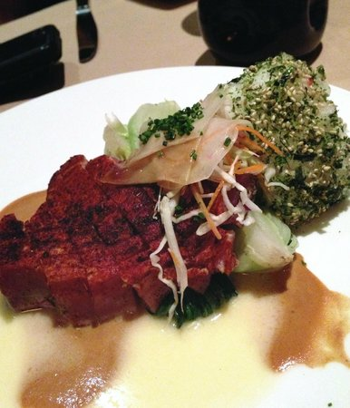 Roy's: Blackened Island Ahi: Spicy Soy Mustard Butter Sauce