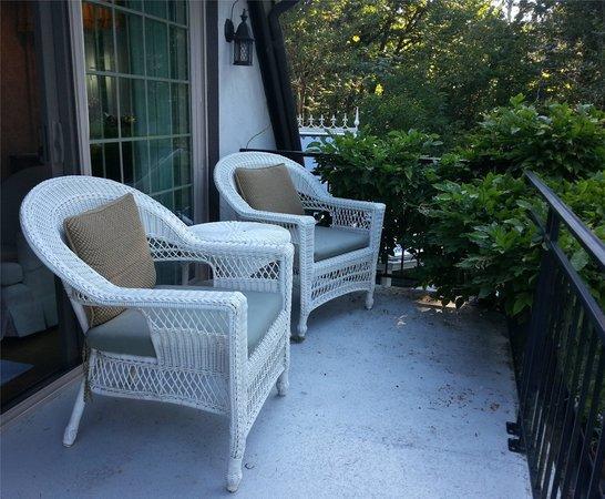 The Inn at Mallard Cove: our balcony
