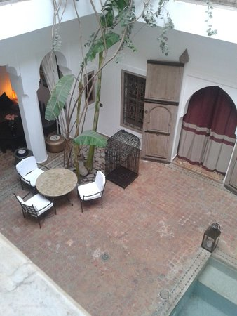 Riad Altair: Looking down at the central courtyard