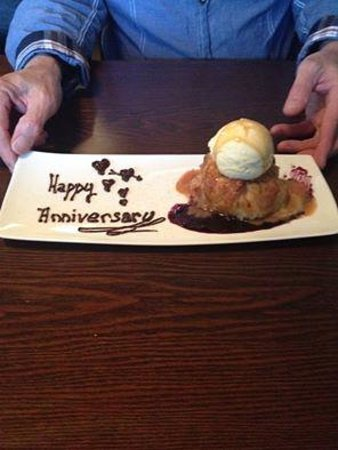 The Nest Bistro: the apple crumble with raspberry couli and home made ice cream... delicious!