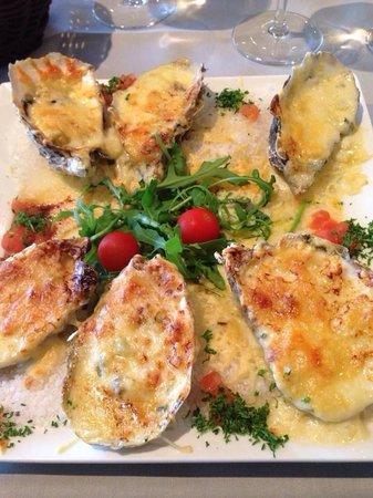 Brasserie Sunbeach : Gegrilde Zeeuwse oesters